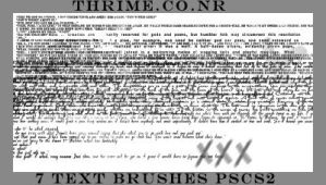 Thrime Text Brushes by lycheese