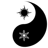 winter and summer yinyang by Anavar