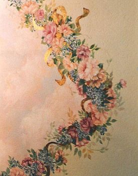 Hand-painted Floral Design with Goldleaf by sllatreille