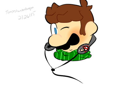 Mario with headphones by TempestWaterdragon