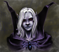 drow chicka by Dont-lose-heart