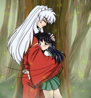 Inuyasha-Surprise Hug by roryalice
