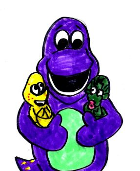 Barney the Dino Dad by SonicClone