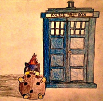 Littlequil and TARDIS by MysteryBeliever-KJB