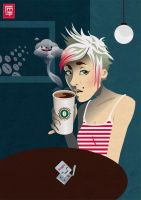 Death By Coffee by Doe-Eyed-Monster