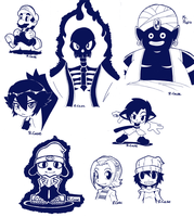 Ink drawings by rongs1234