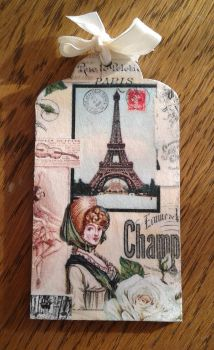 Decoupage bookmark French style by SteamJo