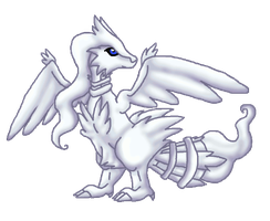 Glowing Reshiram by Piniee