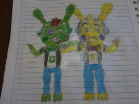 andrecuncev and me two toys bunny's youtubers by s1carlosreyes