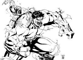 Hulk vs Wolverine by BDStevens