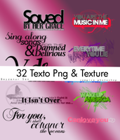 Texto Png and Texture Pack by AlyssaCollins