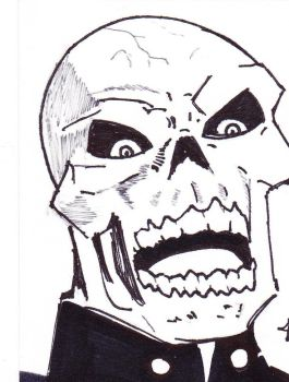 Red Skull - ACEO for sale! by Jason-Lee-Johnson