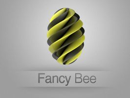 Fancy Bee Logo by DonnaDesign