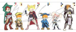 Cybie and Tykie MMORPG Arc (Costume and Color Stud by CyberPikachu