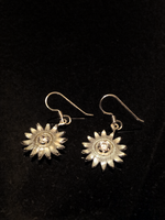 Silver Sunflower Earrings by MonteNotton