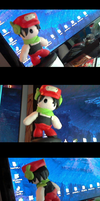 Custom Polymer Clay figure - Quote from Cave story by MHLizard