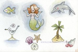 Undersea Stickers by cgitto