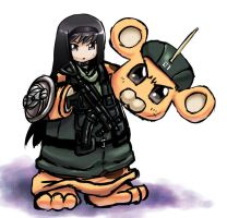 Homubonta-chan COLORED VER. by COMMISSAR-NYORON
