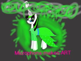 Microphona-makes-ART Oc contest prize by Burstalicious
