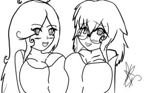 Kana and Mani Squish. by Coco-Apple