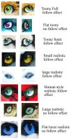 eye examples by LilleahWest
