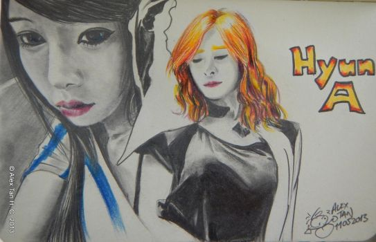 HyunA from 4Minute by aleksitanninen
