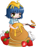 Pancake Mascot Commission by YamPuff