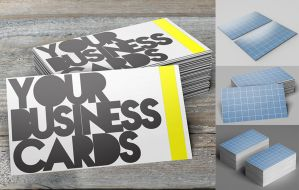 FREE: Business Card Mockups by stiannius