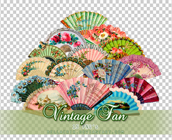 Vintage Fan PNGs by Bellacrix