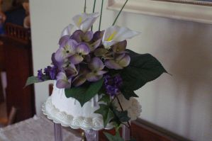 floral wedding cake 4 by nlpassions