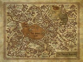 Map of the Twelve Kingdoms by DarkAngelDTB