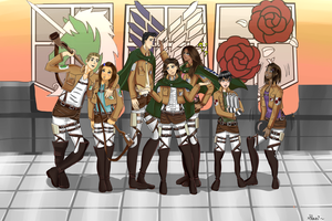 SNK Friends by xShani-chanx
