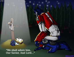 Even Optimus prime needs a savior, by skyrore1999