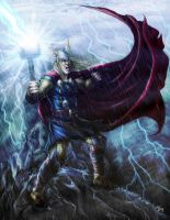 THOR Lightning storm - Final by ReddEra