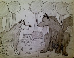 Balto: Cursed Soldier Fanart - First Meeting by HydeCorner