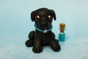 Black lab puppy by SculpyPups