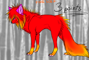 Fire Wolf-3 points OPEN by Pixel-Candy