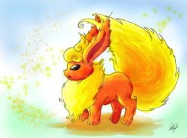 Flareon Painting by Little-Red-Pumpkin