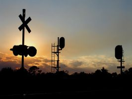 Sunset On The CSX by Hobgoblin666