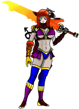 Nerissa Gladium Huge Furnace Outfit by Cyclone-Wolf-Devil