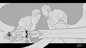 Devil May Cry 3 - Dante vs Vergil by WinglyC