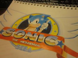 sonic the hedgehog by enmortem