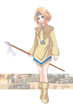 maple story npc AYAN by currybread