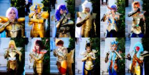 Gold Saints!! - Team Saint Seiya Burning Cosmos by Juan-Cruz