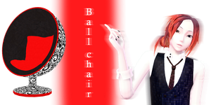 [MMD] Ball chair - DL by JoanAgnes