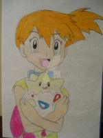 Misty with Togepi by AJLeefan4life