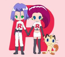Chibi team rocket by EllaOfEldamar