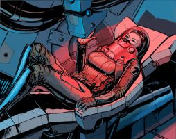 Reclining Female Pilot by jasonwilliford
