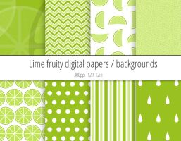 Lime digital paper / backgrounds pack by PeculiarPrintables