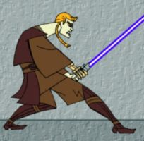 Anakin Skywalker at the Ready by mpcp13